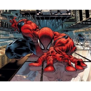 The Sensational SpiderMan, Issue 23 by Angel Medina - A great example of three point perspective.