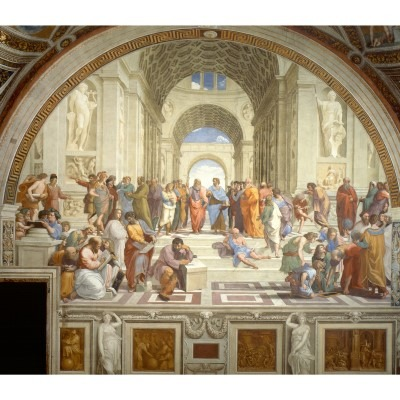 School of Athens by Raphael, a great example of composition and symmetry