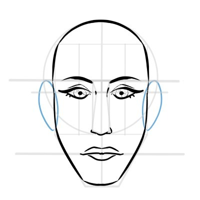 The ears are easy to locate when drawing the face, here's how.