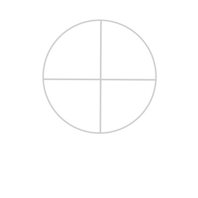 To draw the face from the side, we start with a circle as well.