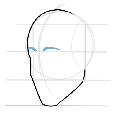 start working the main lines of the head and face.