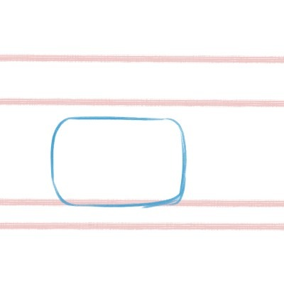 If you want to draw a corgi, start by drawing a big rounded rectangle.