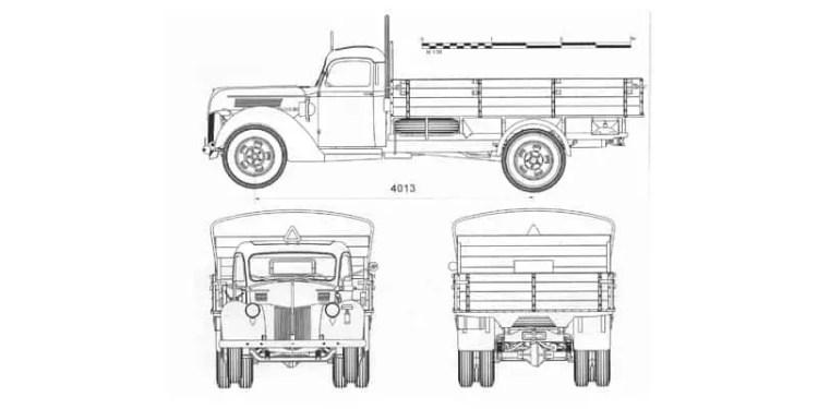 Ford V3000S Blueprint on Drawing Database