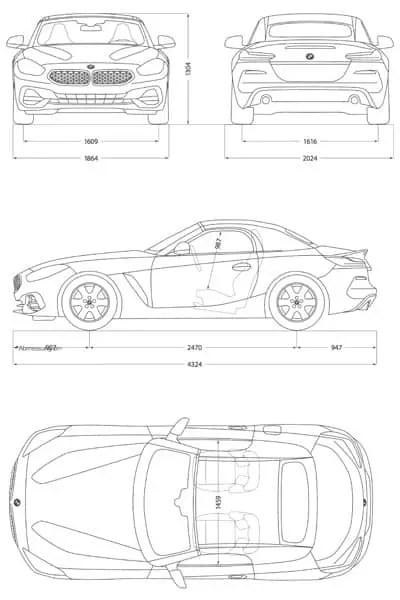 BMW Z4 2018 Blueprint