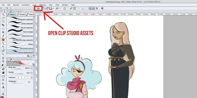 Here's how you can easily install materials in clip studio paint!