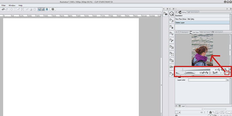 Here's how you import an image into clip studio paint for your reference window!