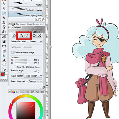 Here's how you can flip a selection in clip studio paint, very easily!