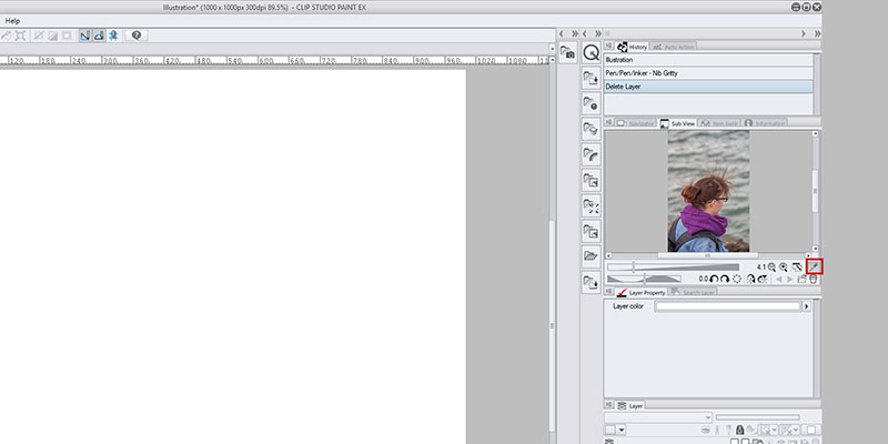 You can use your reference window in Clip Studio Paint as a Color Palette!