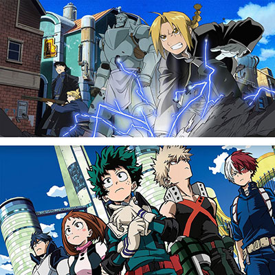 A modern look at anime, featuring Fullmetal Alchemist Brotherhood and My Hero Academia