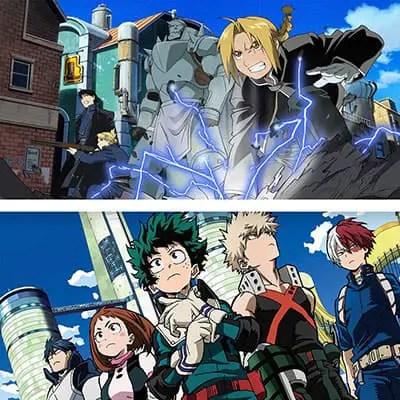 A modern look at anime, featuring Fullmetal Alchemist Brotherhood and My Hero Academia