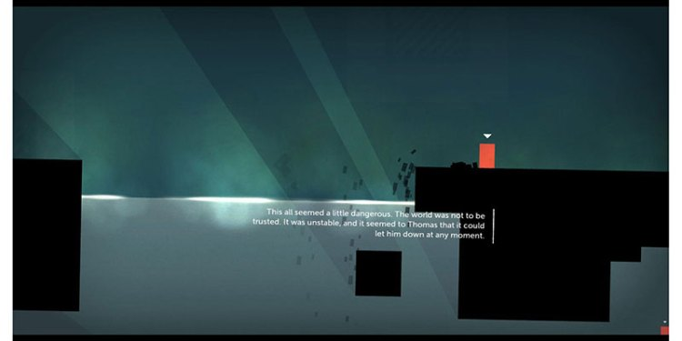 There are also minimalist styles like this from the game Thomas Was Alone!