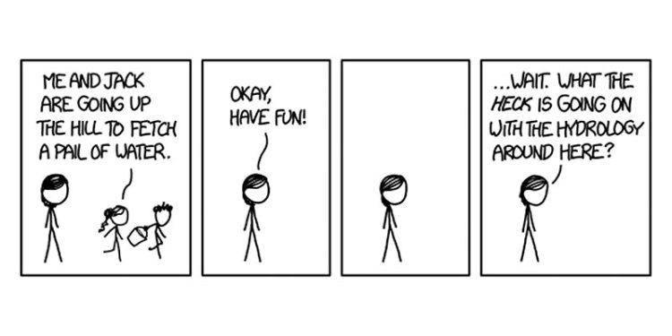 Comic from xkcd, showing the minimalist art style