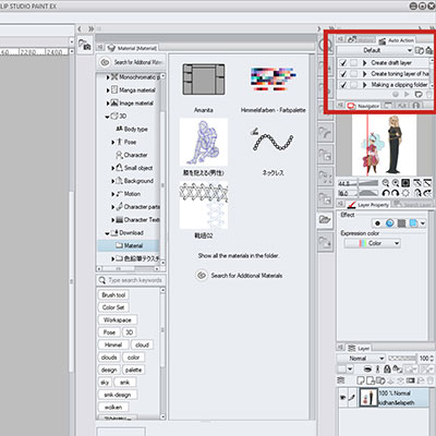 Use auto actions to speed up your work flow in clip studio paint!