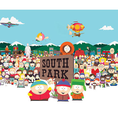South Park pushed the boundaries of cartoon art styles by creating very geometric characters