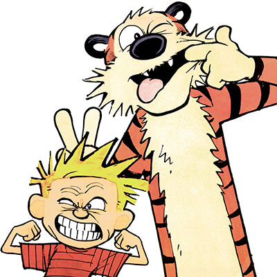 Calvin And Hobbes art style by bill watterson is very unique.