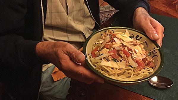 tuna pasta in bowl