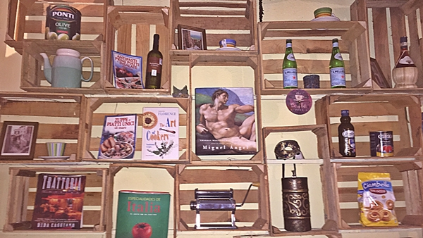 osteria crate wall