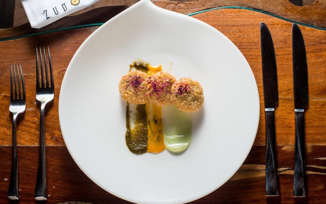 New Zumo chef shows off his Mexicasian menu.