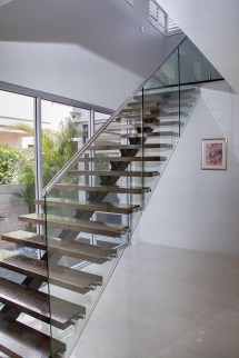 Stair Railing with Glass Balustrade