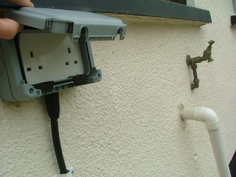 peter donegan landscaping ltd - double socket and outside tap