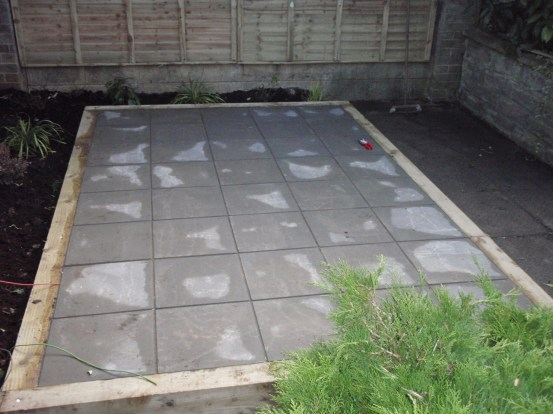 almost complete patio