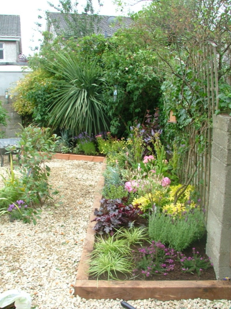 small-garden-pebble and pretty planting