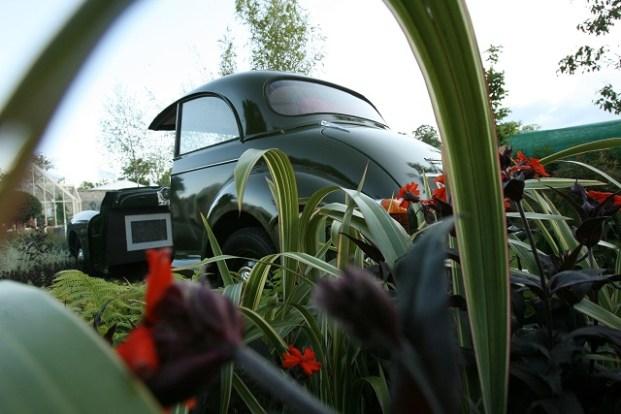 car garden morris minor