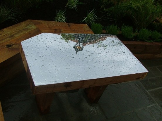 mirror garden furniture