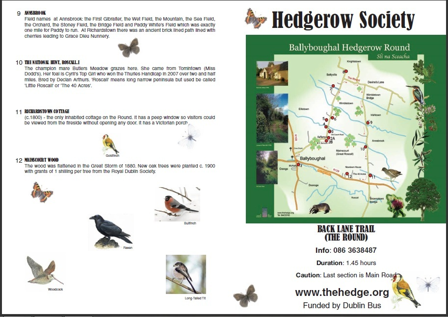 Hedgerow society Ballyboughal Map part 2