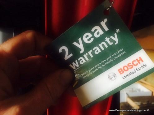 bosch axt25tc warranty