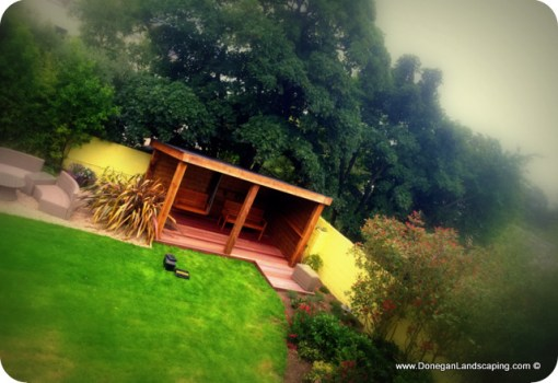 garden structure, swinging seat, howth dublin landscaping