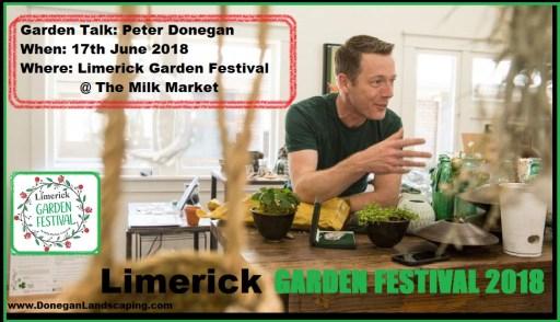 Garden Talks, Limerick Garden Festival, 2018