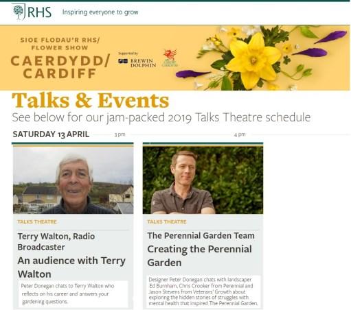 rhs talks stage, speakers