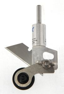 Donek Tools Creaser Attached to D4Drag Knife viewed from the back side