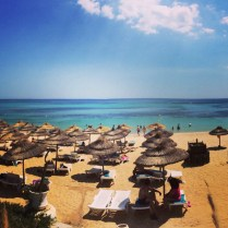 The beach off the hotel. Hammamet, Tunisia