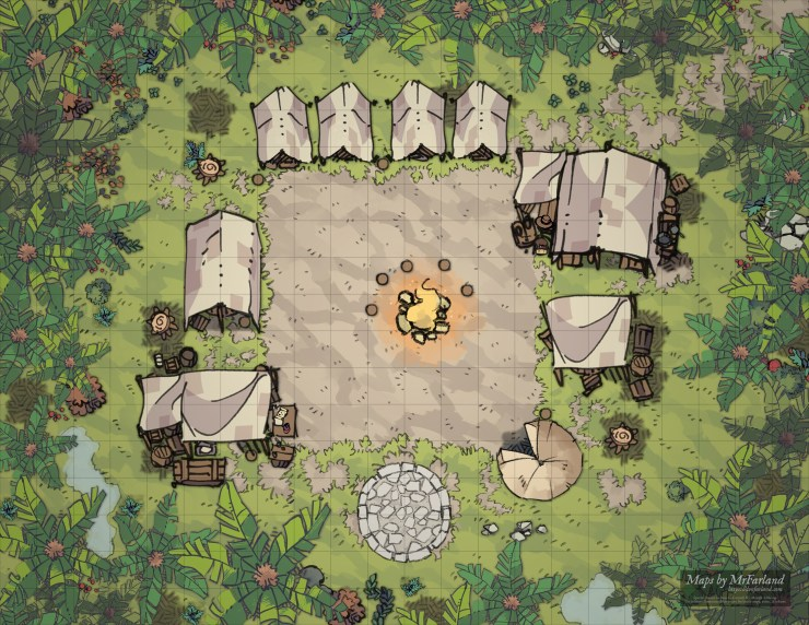 Jungle Camp 22x17 - Grid