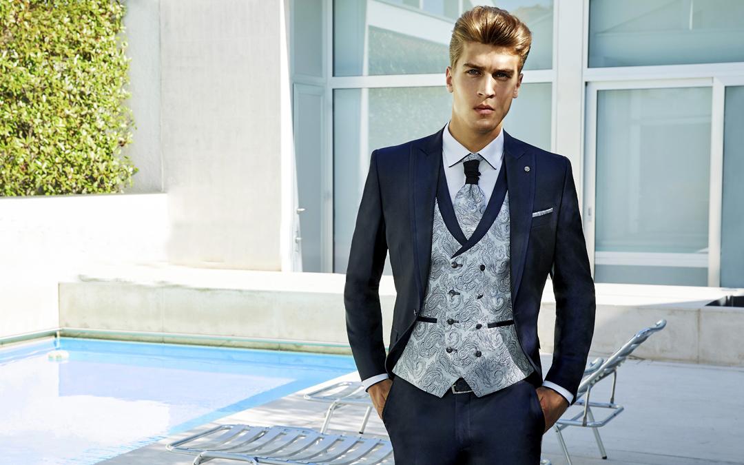 Los mejores trajes de novio azules