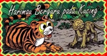 Cerita Rakyat Singkat Harimau Berguru Pada Kucing