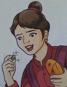 cerita rakyat aceh - Ibunda Pangeran Amat Mude menemukan emas di dalam perut ikan