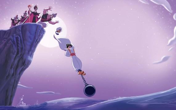 Aladin di lempar ke dalam laut