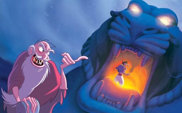 Jafar meminta aladin masuk ke gua