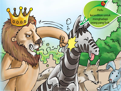 Dongeng Fabel Bau Mulut Sang Raja Hutan