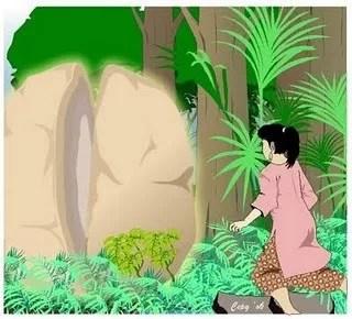cerita rakyat Indonesia batu terbelah