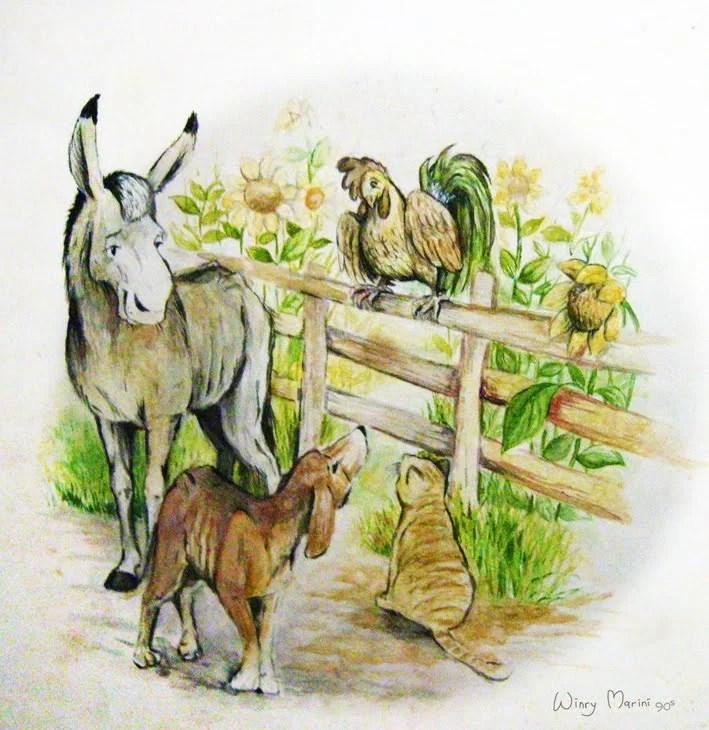 Dongeng Fabel Persahabatan 4 Ekor Hewan