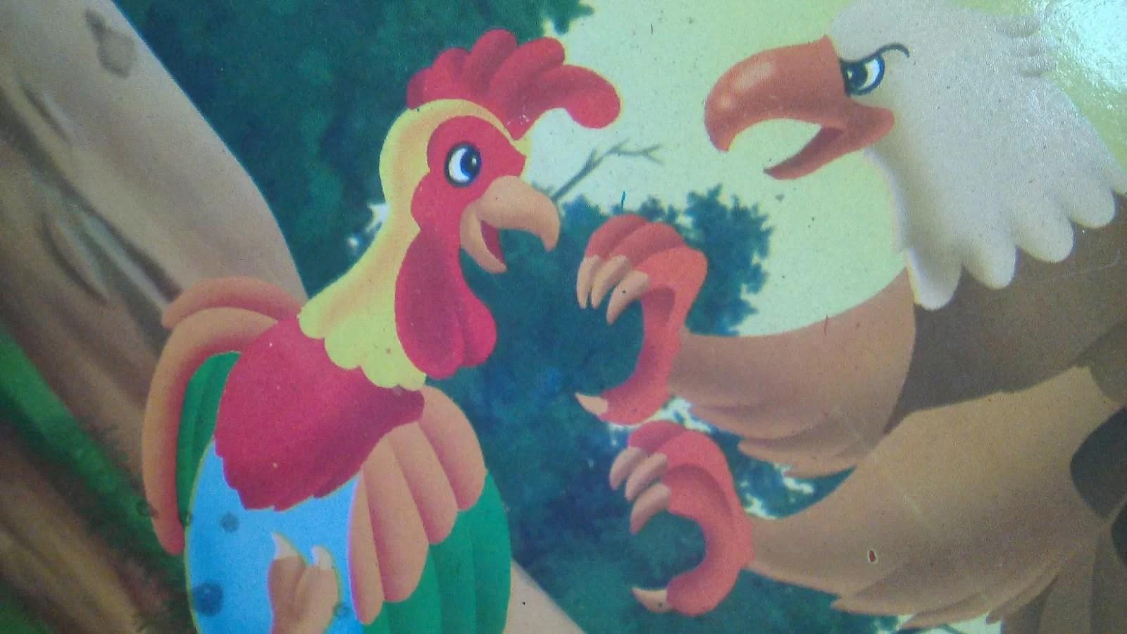 Dongeng Cerpen Bergambar Kisah Ayam dan Elang