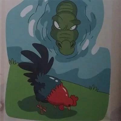 cerita rakyat fabel ayam dan buaya
