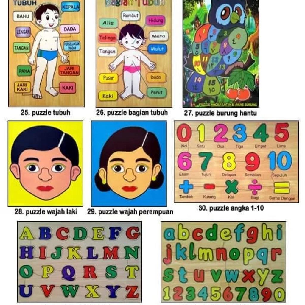 Mainan Anak Edukatif Kayu Puzzle Hewan