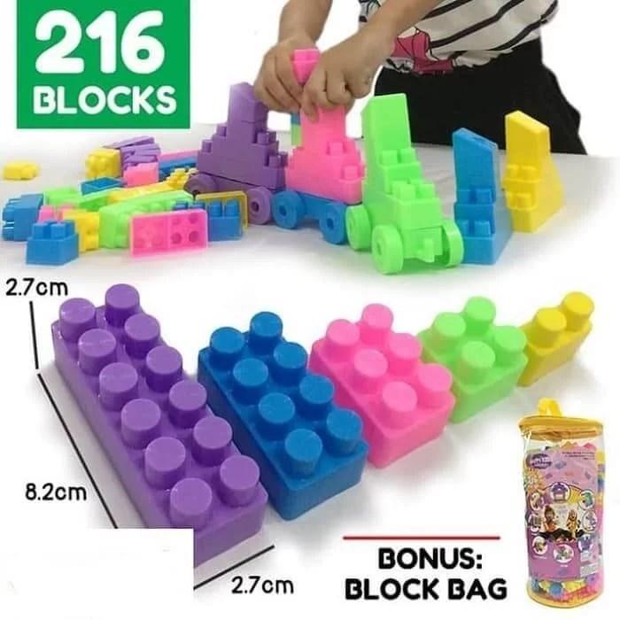 Mainan Edukatif Anak 2 tahun Balok Susun