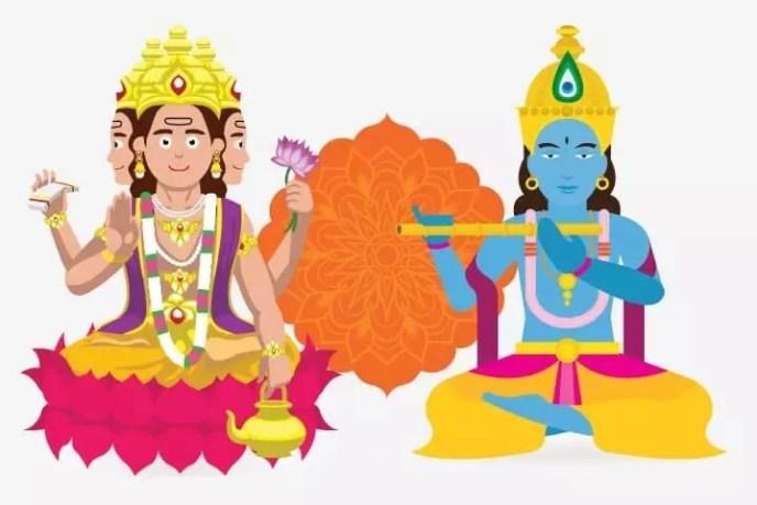 Pelajaran Krisna untuk Dewa Brahma