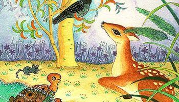 Dongeng Fabel Persahabatan Rusa, Kura-Kura dan Burung Gagak